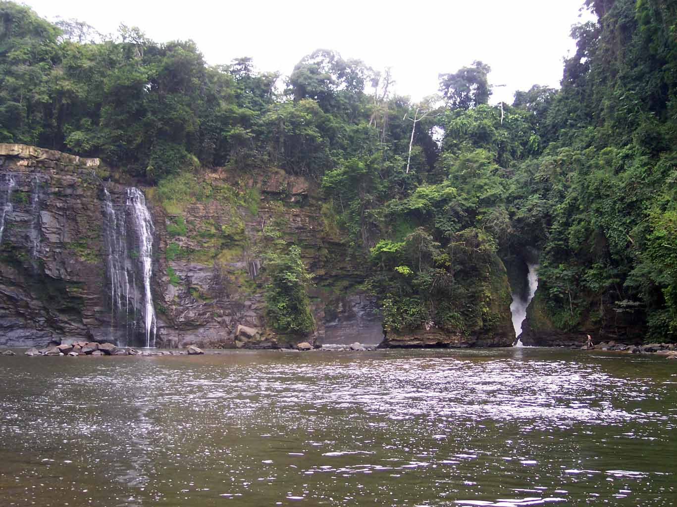 Itsila waterfall, Gabon-Congo border, habitat of Petropedetes vulpiae; photo. by O.S.G. Pauwels